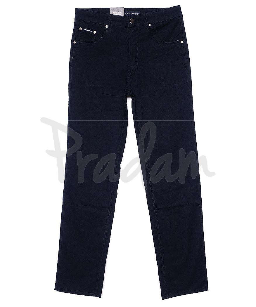 9006 LS брюки мужские классические темно-синие весенние стрейчевые (31-38, 8 ед.)