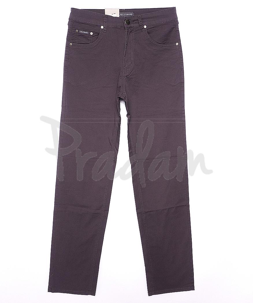 9019 LS брюки мужские классические серые весенние стрейчевые (31-38, 8 ед.)