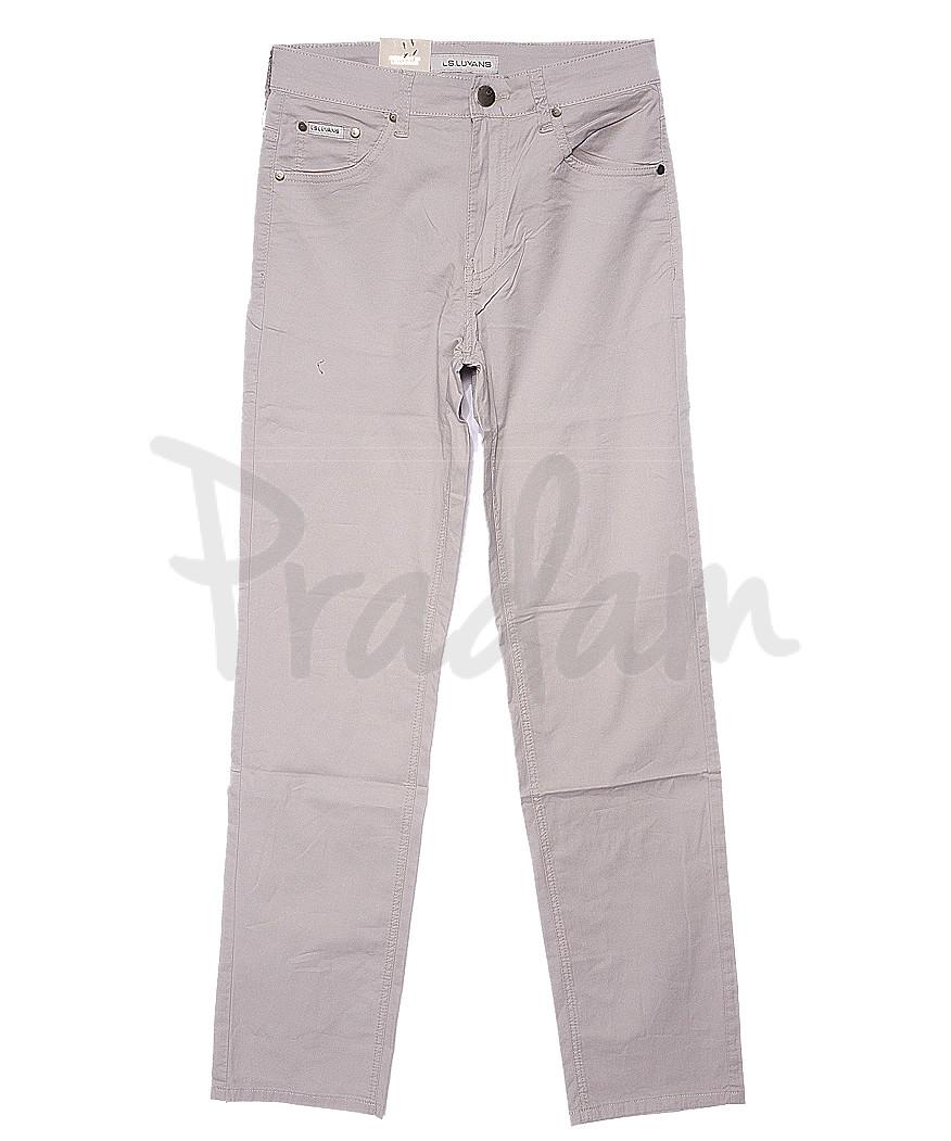 9020 LS брюки мужские классические светло-бежевые весенние стрейчевые (31-38, 8 ед.)