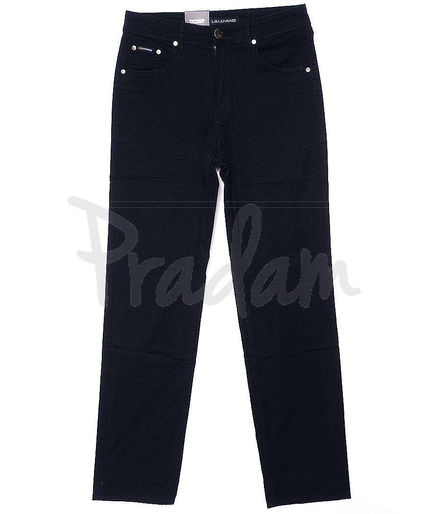 9021 LS брюки мужские классические темно-синие весенние стрейчевые (31-38, 8 ед.)