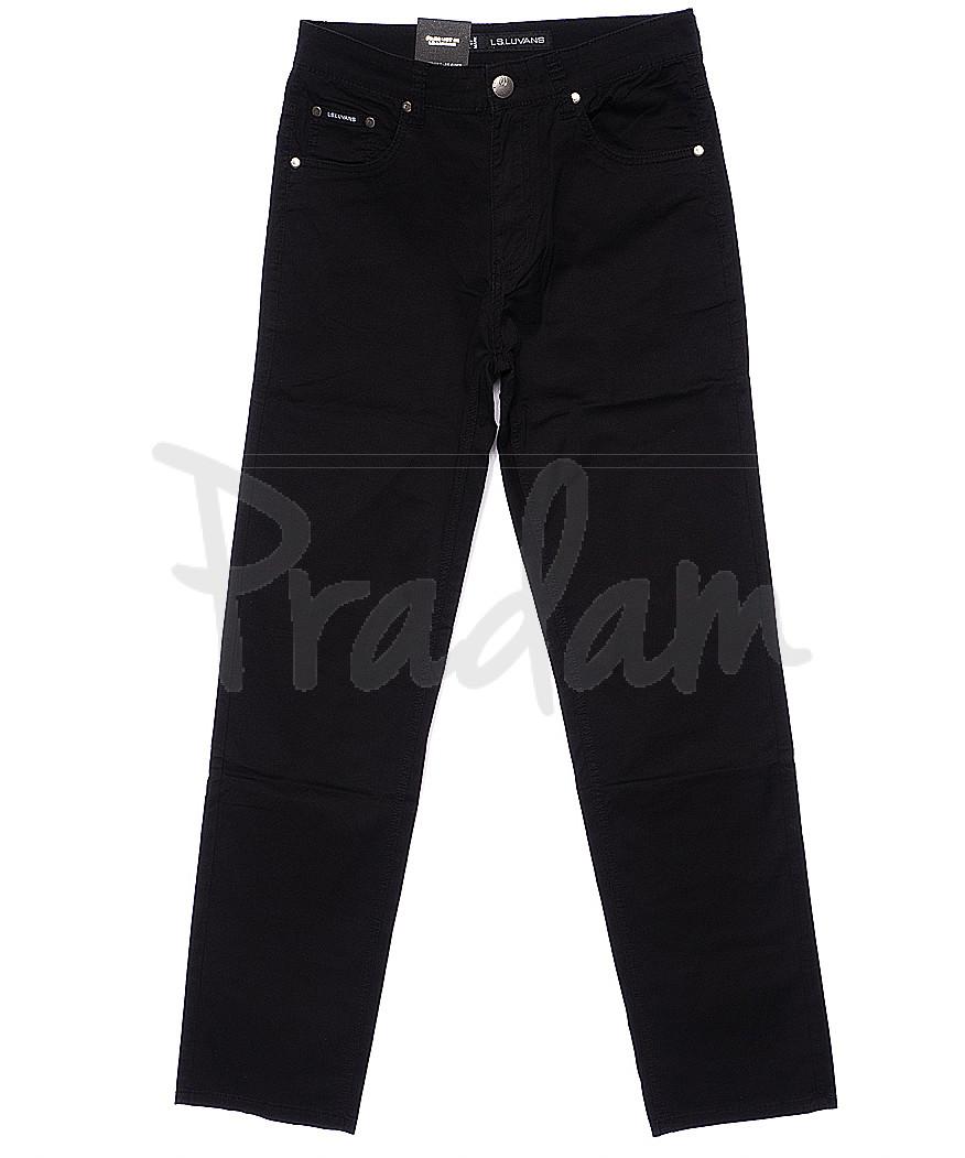 9005 LS брюки мужские классические черные весенние стрейчевые (31-38, 8 ед.)