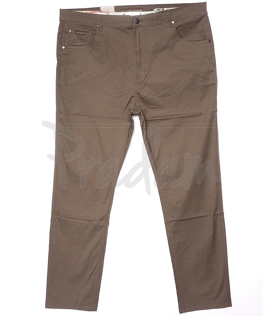 9016-D LS брюки мужские батальные бежевые весенние стрейчевые (34-44, 8 ед.)