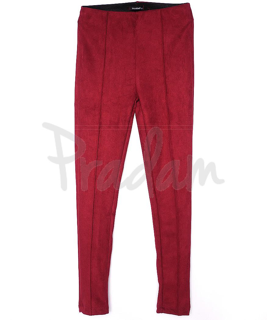 30033 красные Incebelli лосины замшевые весенние стрейчевые (S-XL, 4 ед.)