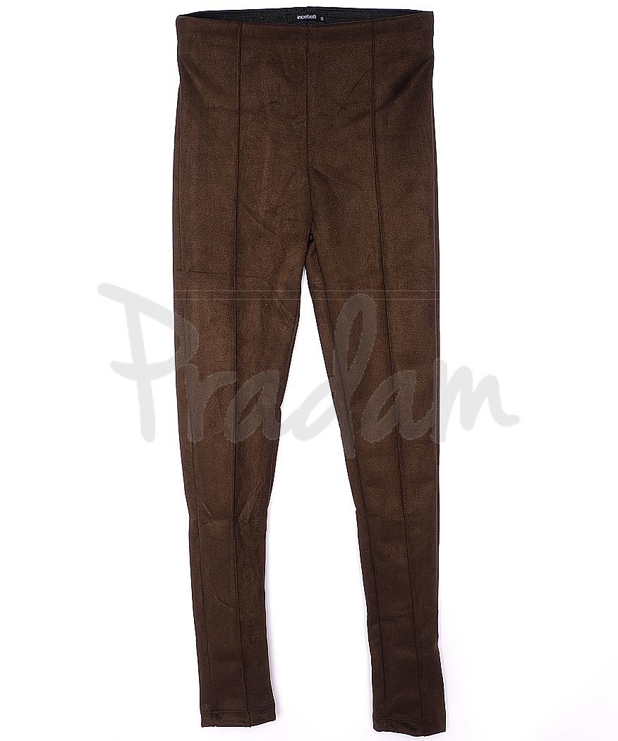 30033 коричневые Incebelli лосины замшевые весенние стрейчевые (S-XL, 4 ед.)