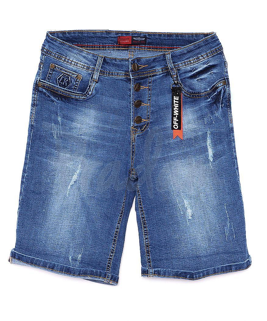 A 0150-15 Relucky шорты джинсовые женские батальные на пуговицах стрейчевые (28-33, 6 ед.)