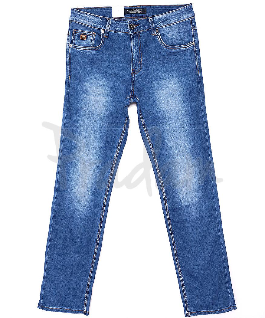 9128 God Baron джинсы мужские классические батальные весенние стрейчевые (32-42, 8 ед.)
