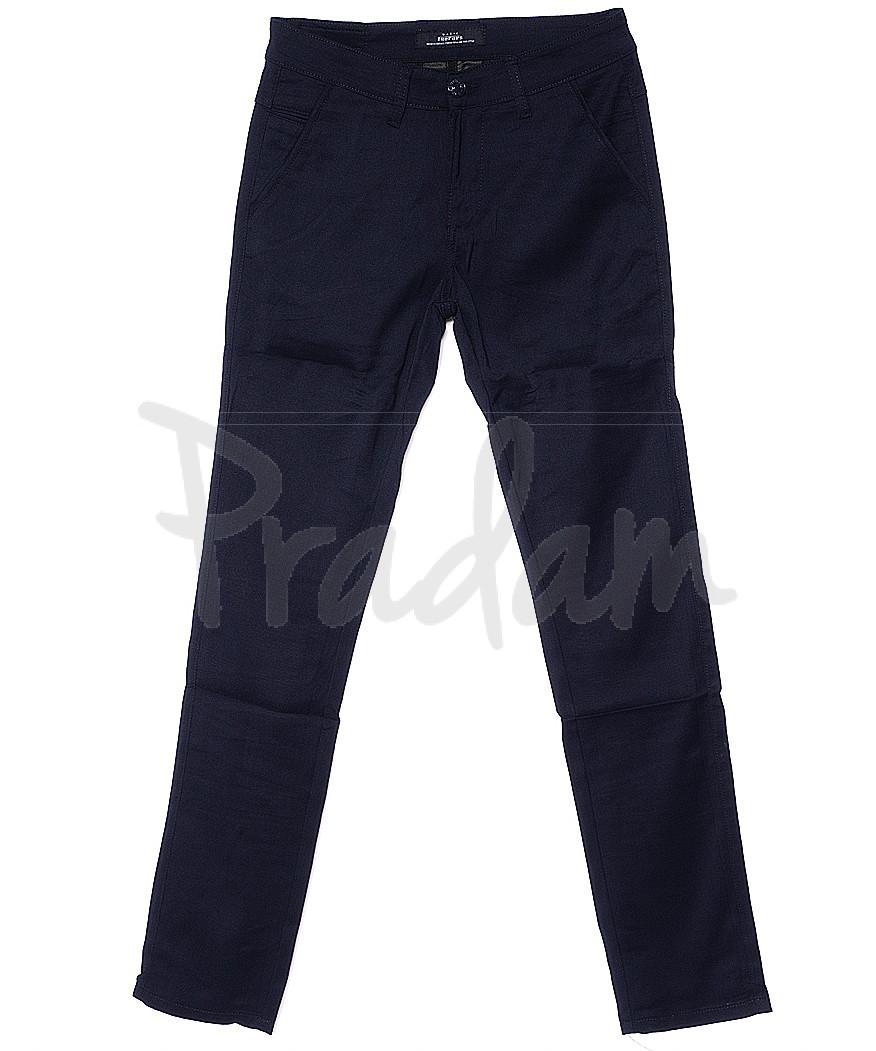 0373-3 Feerars брюки мужские молодежные темно-синие весенние стрейчевые (28-36, 8 ед.)