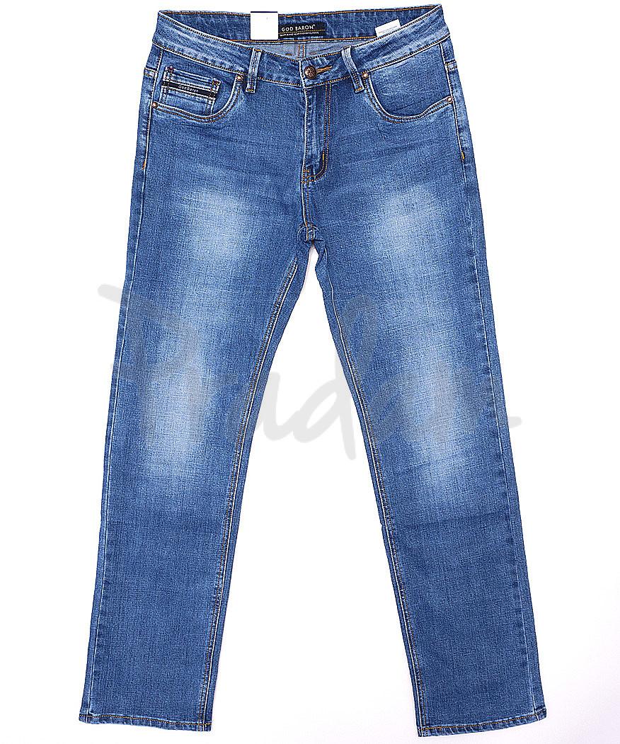 9146 God Baron джинсы мужские батальные весенние стрейчевые (32-38, 8 ед.)