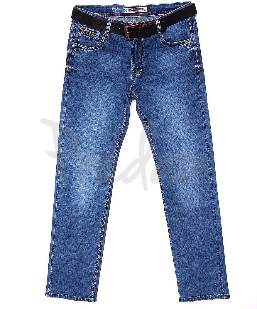 9076 Baron джинсы мужские батальные классические весенние стрейчевые (34-38, 8 ед.)