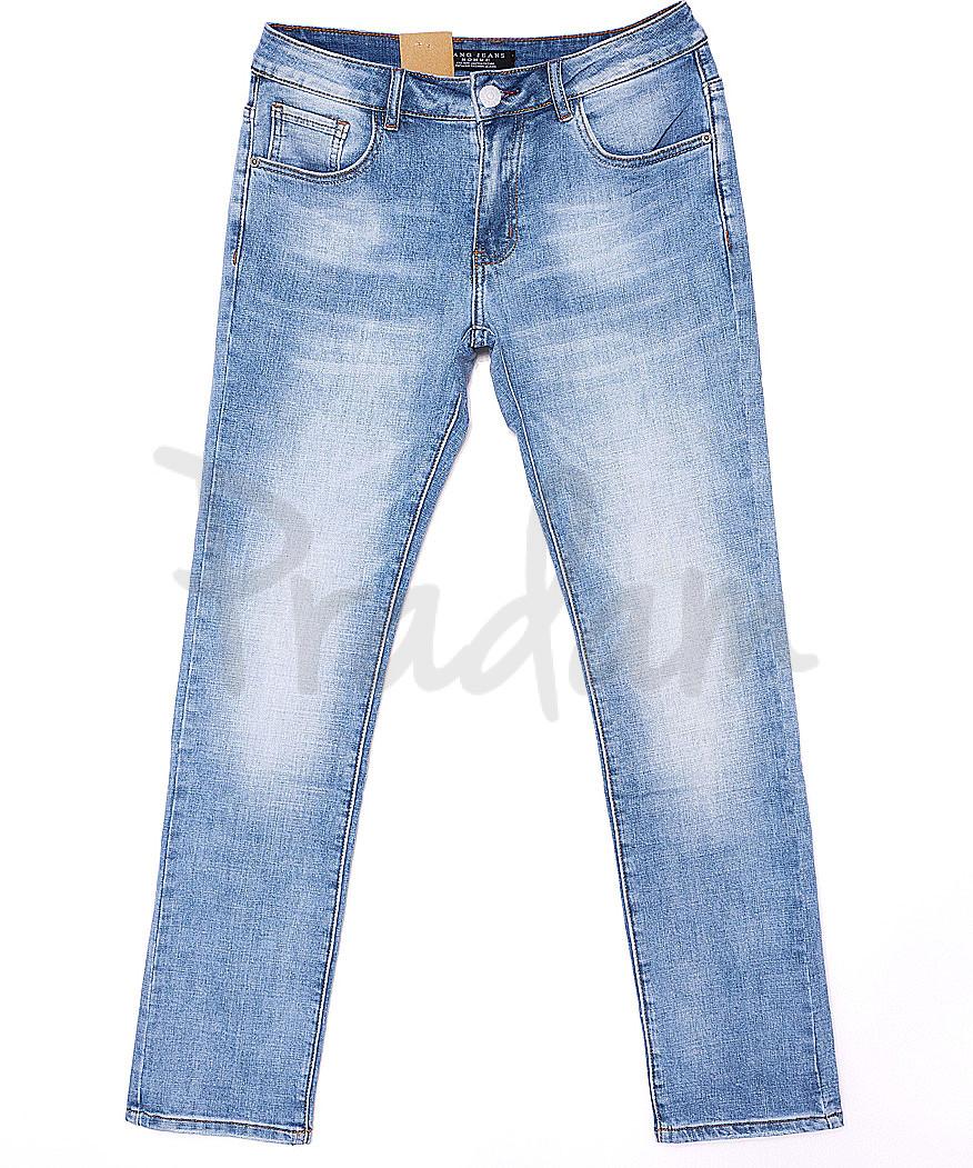 2075 Fang джинсы мужские с теркой весенние стрейч-котон (29-36, 8 ед.)