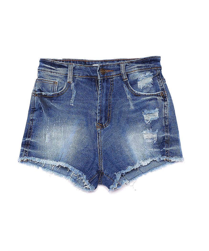 A 0060-10 Relucky шорты джинсовые женские с рванкой и царапками котоновые (25-30, 6 ед.)
