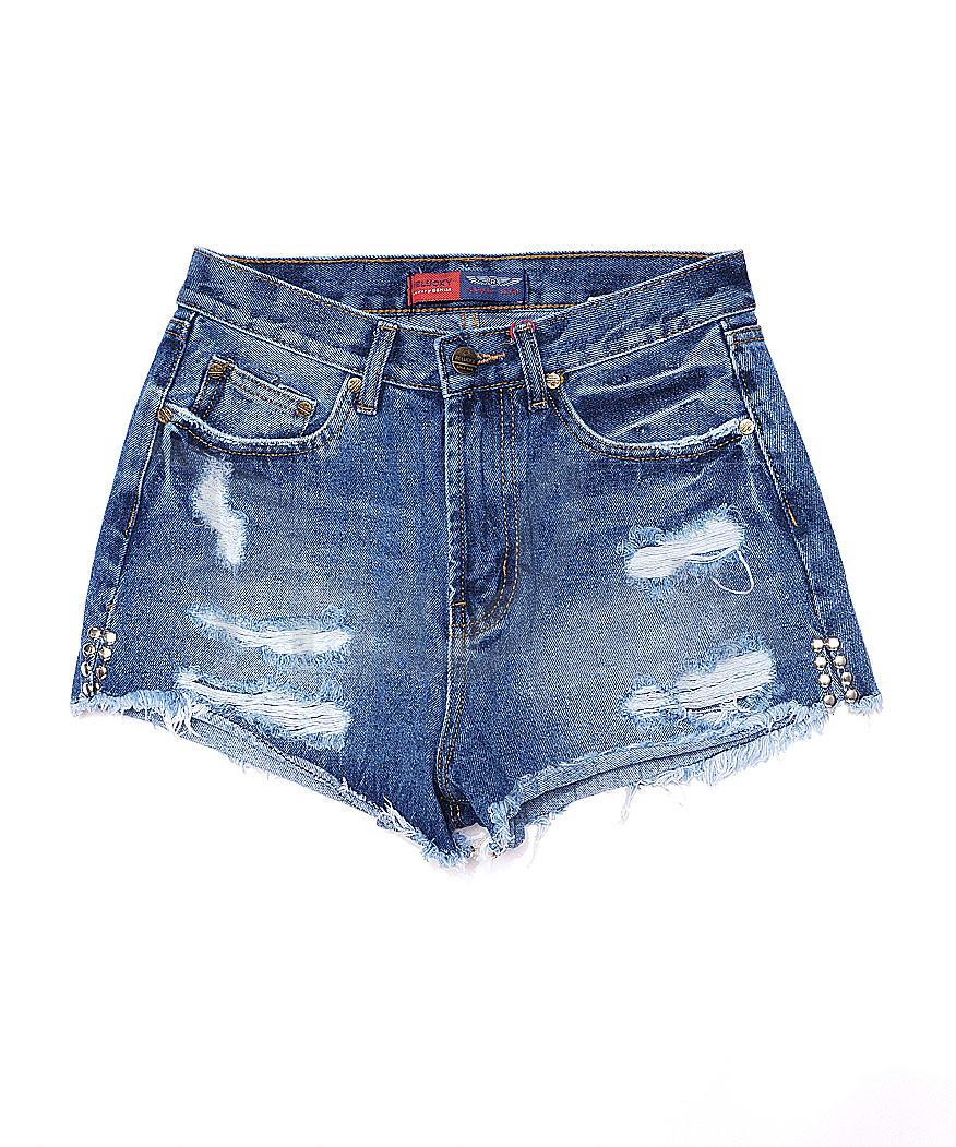 A 0026-12 Relucky шорты джинсовые женские с рванкой котоновые (25-30, 6 ед.)