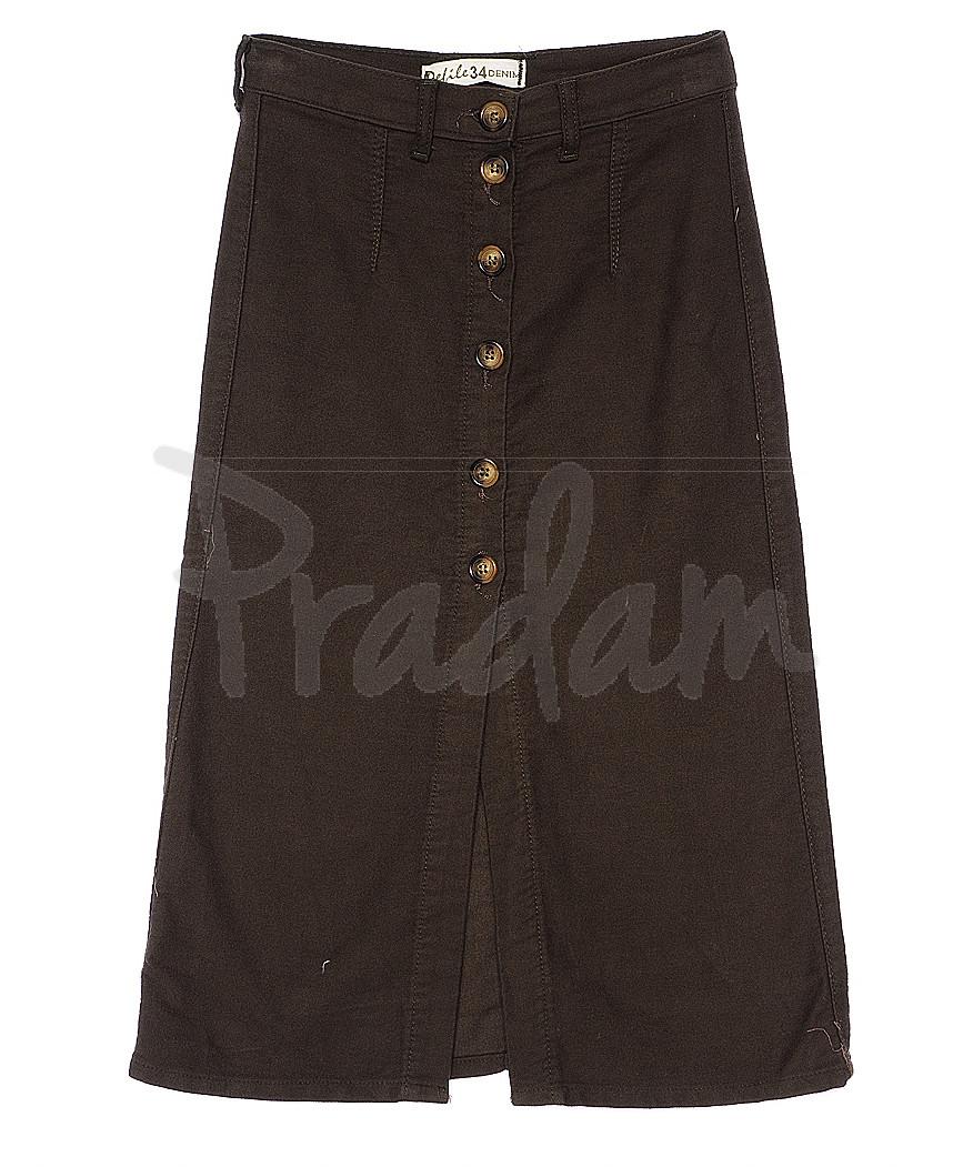 34000 хаки Defile юбка джинсовая на пуговицах весенняя котоновая (34-42, евро, 6 ед.)