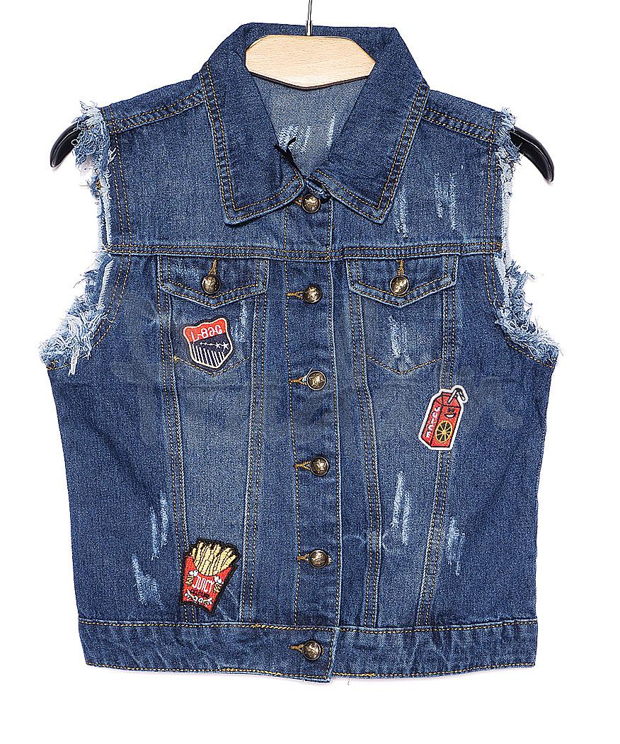 0619 New jeans жилетка джинсовая женская стильная весенняя котоновая (XS-XXL, 6 ед.)