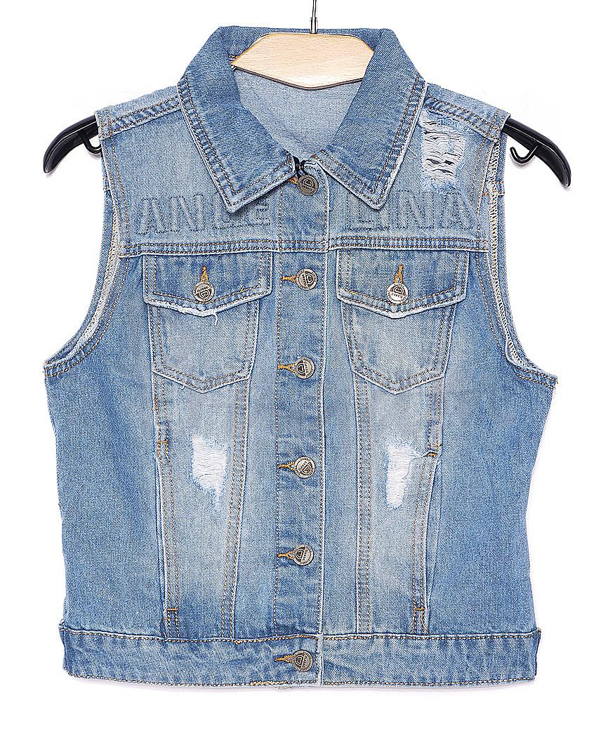 0620 New jeans жилетка джинсовая женская стильная весенняя котоновая (XS-XXL, 6 ед.)
