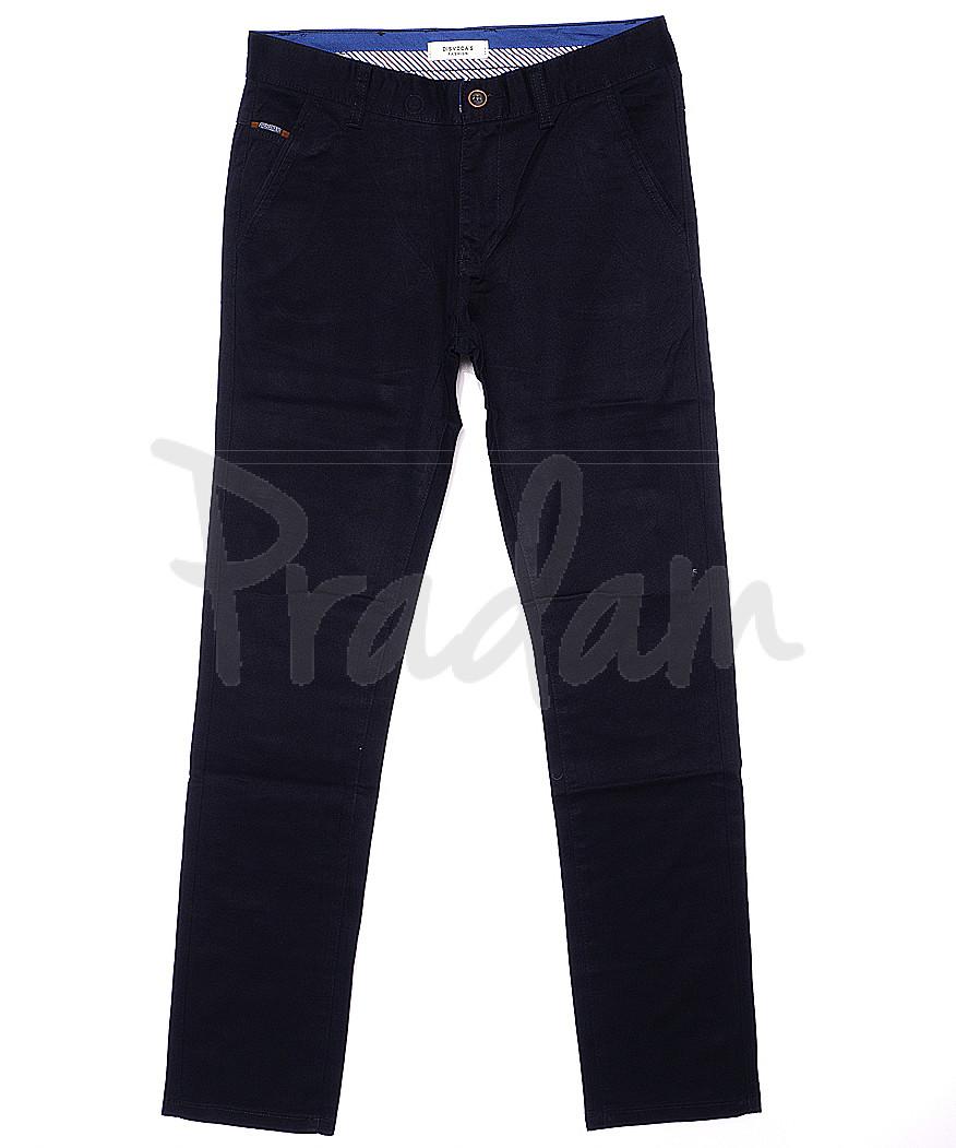0671-5 Disvocas брюки мужские темно-синие весенние стрейчевые (30-40, 8 ед.)