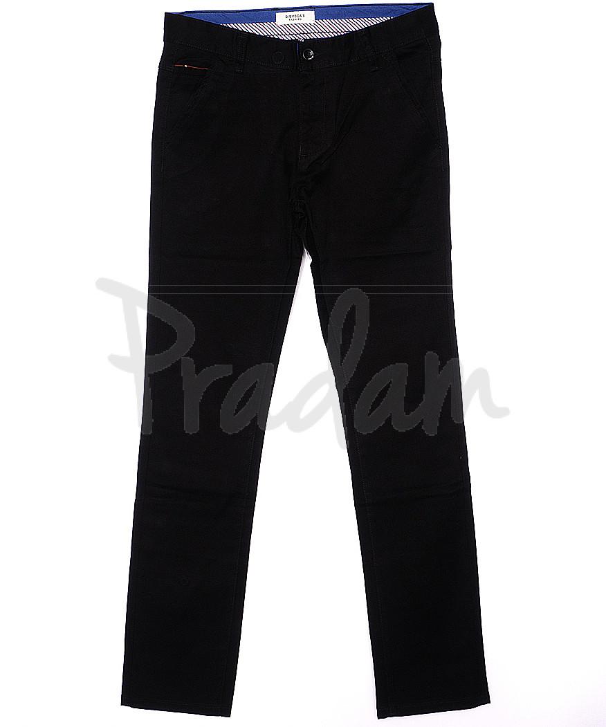 0668-34 Disvocas брюки мужские черные весенние стрейчевые (29-38, 8 ед.)