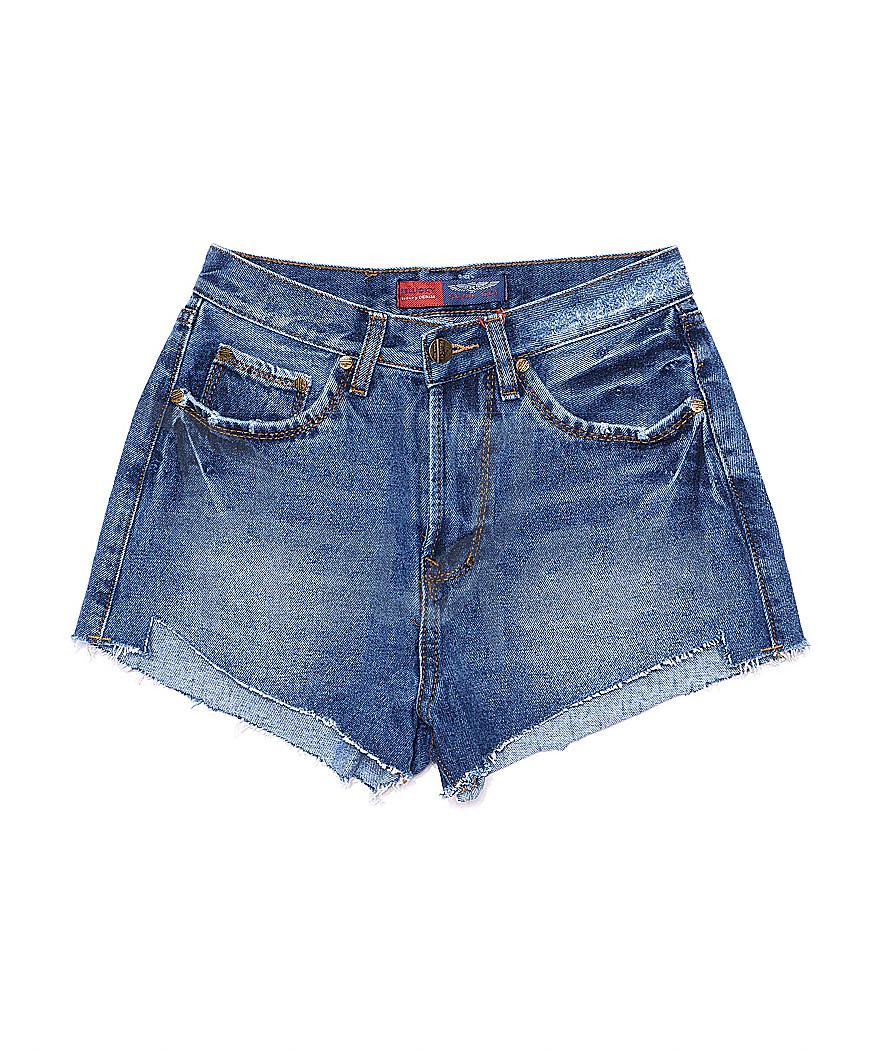 A 0024-12 Relucky шорты джинсовые женские котоновые (25-30, 6 ед.)