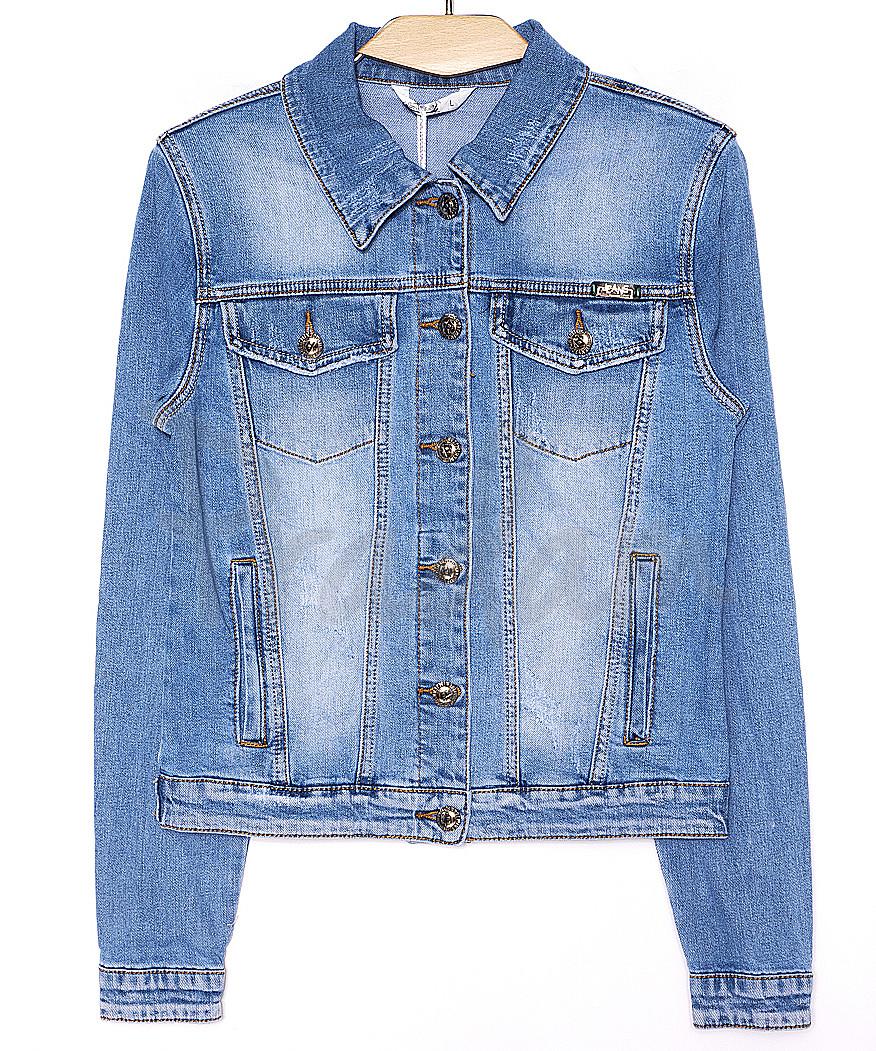 8911 Zijinyan куртка джинсовая женская батальная весенняя стрейч-котон (L-5XL, 6 ед.)