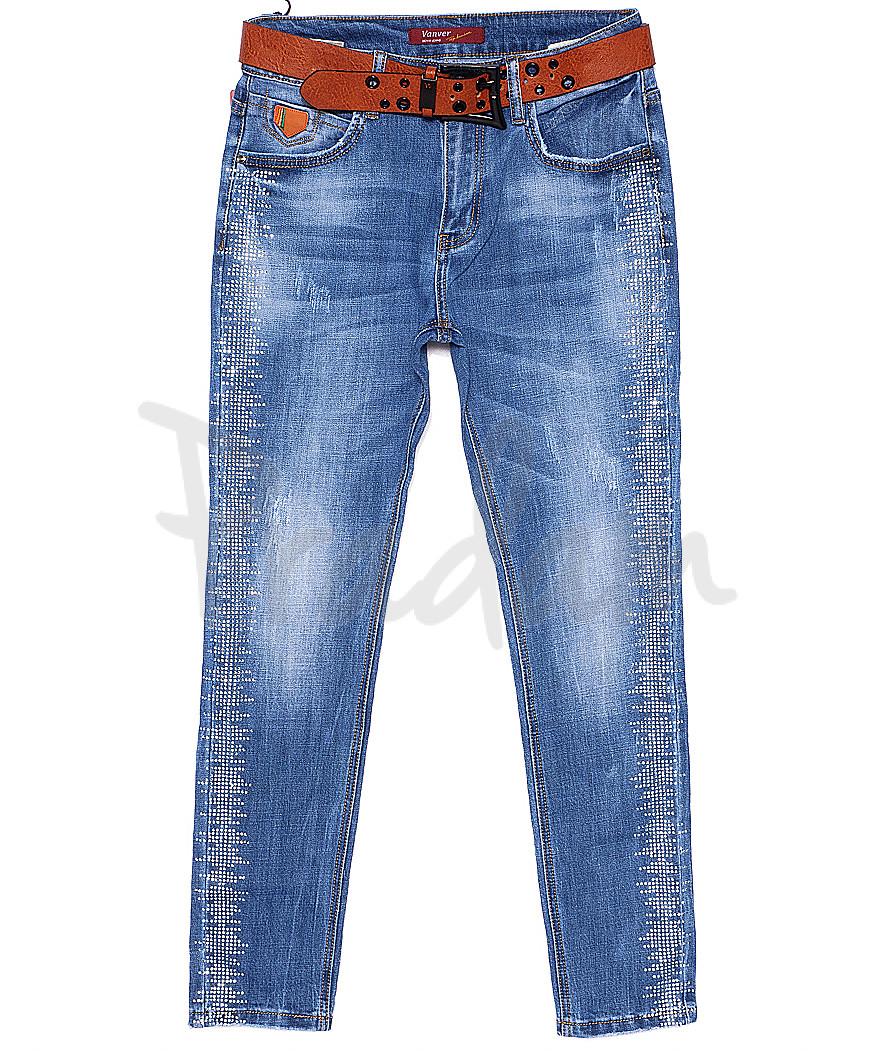 8196 Vanver джинсы женские батальные с декоративной отделкой весенние стрейчевые (28-33, 6 ед.)