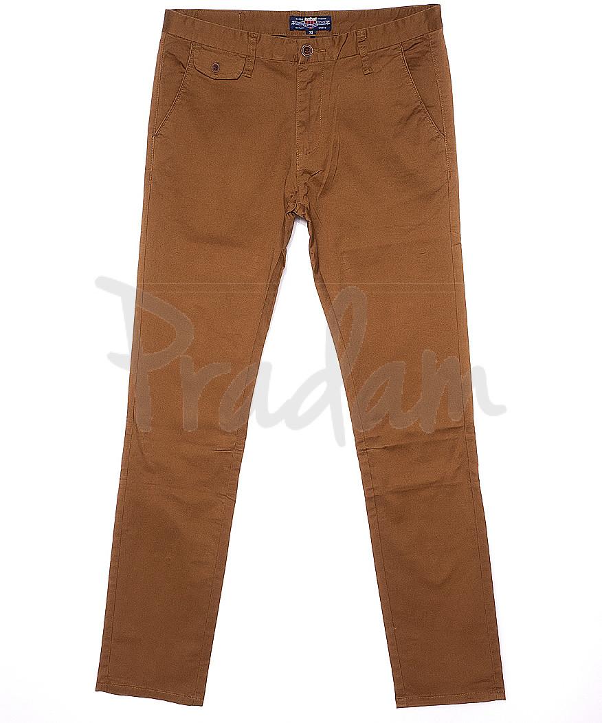 0132-5 Disvocas брюки мужские молодежные светло-коричневые весенние стрейчевые (28-36, 8 ед.)