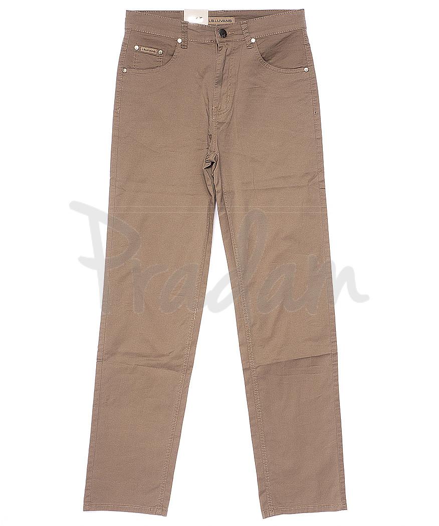 9017 LS брюки мужские бежевые весенние стрейчевые (31-38, 8 ед.)
