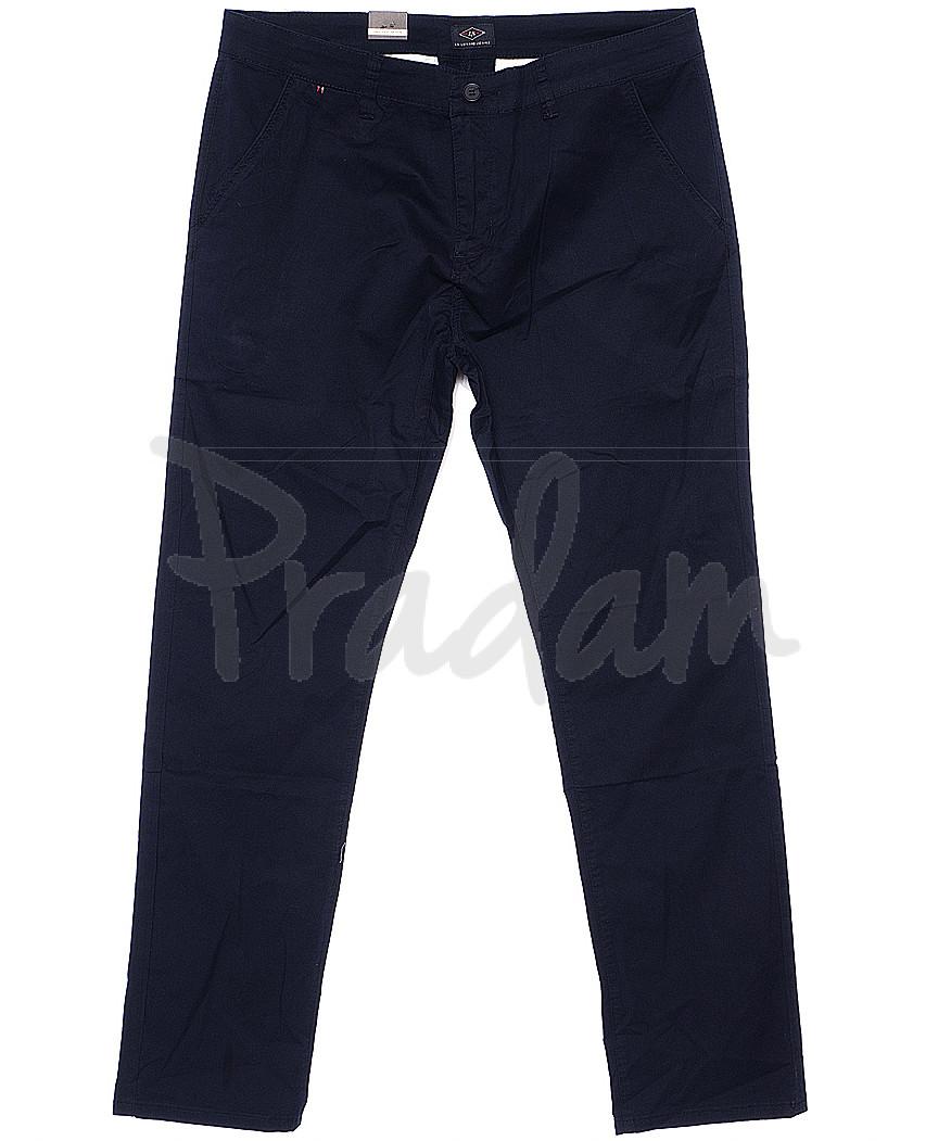 140061-D LS брюки мужские батальные темно-синие весенние стрейчевые (34-42, 8 ед.)