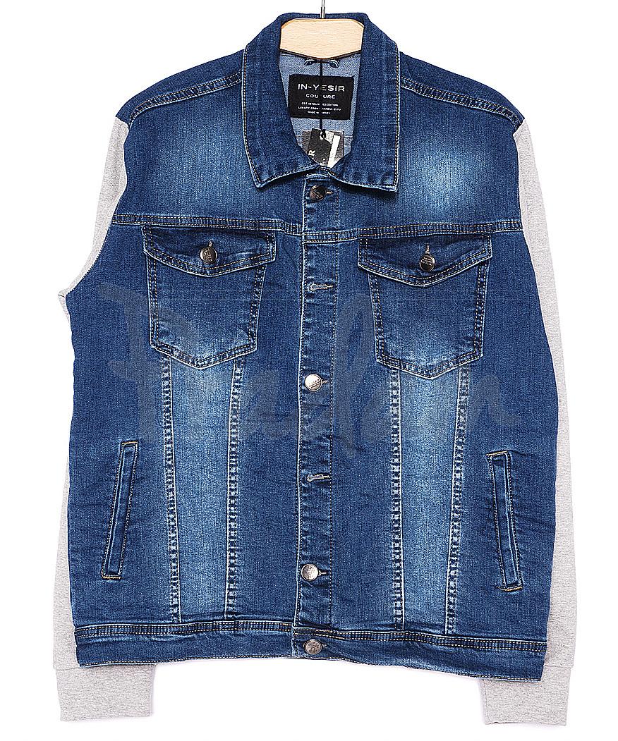 2031-2 In Yesir куртка джинсовая мужская батальная комбинированная весенняя стрейчевая (XL-5XL, 5 ед.)