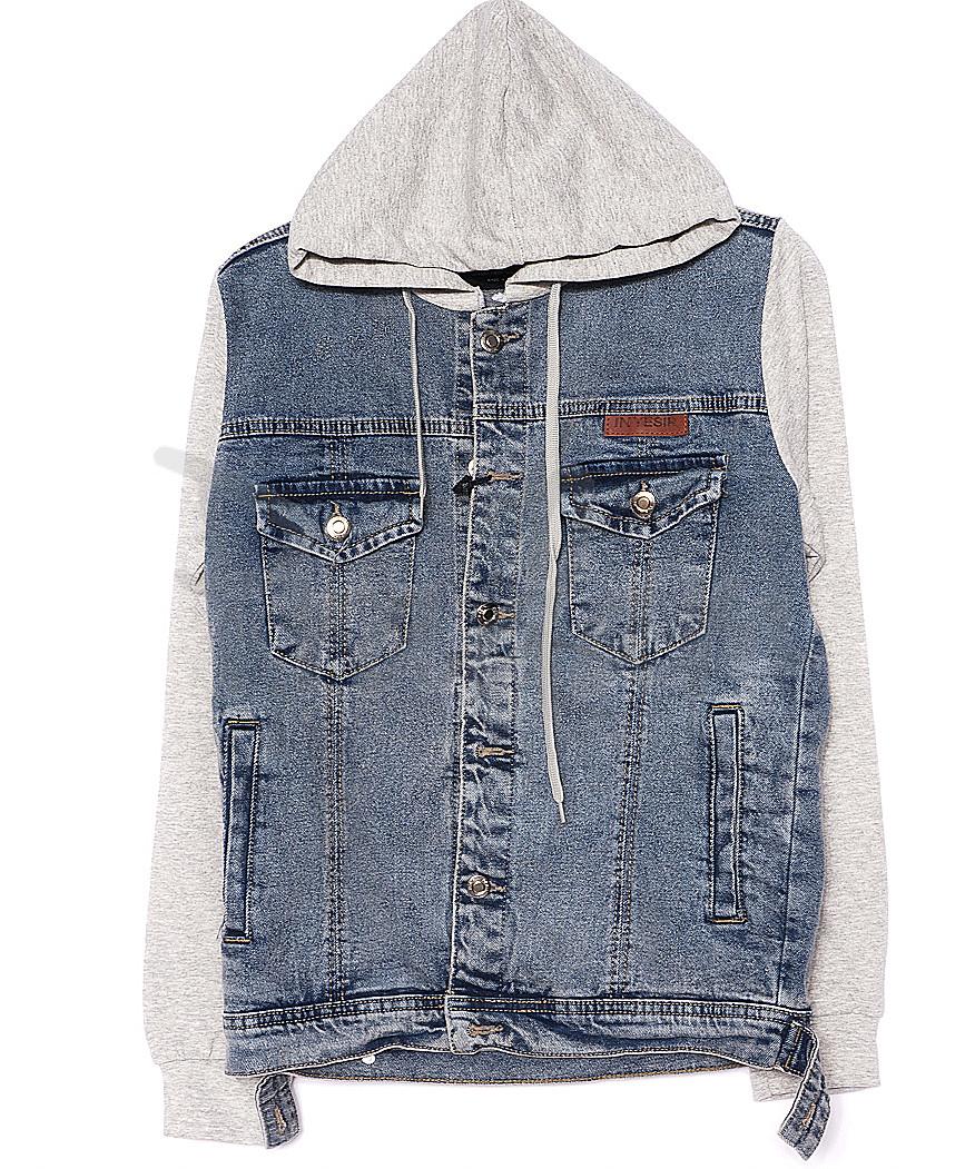 2020-3 In Yesir куртка джинсовая мужская комбинированная с капюшоном весенняя котоновая (S-XXL, 6 ед.)