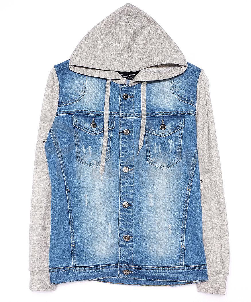 2019-1 In Yesir куртка джинсовая мужская комбинированная с капюшоном весенняя котоновая (S-XXL, 6 ед.)