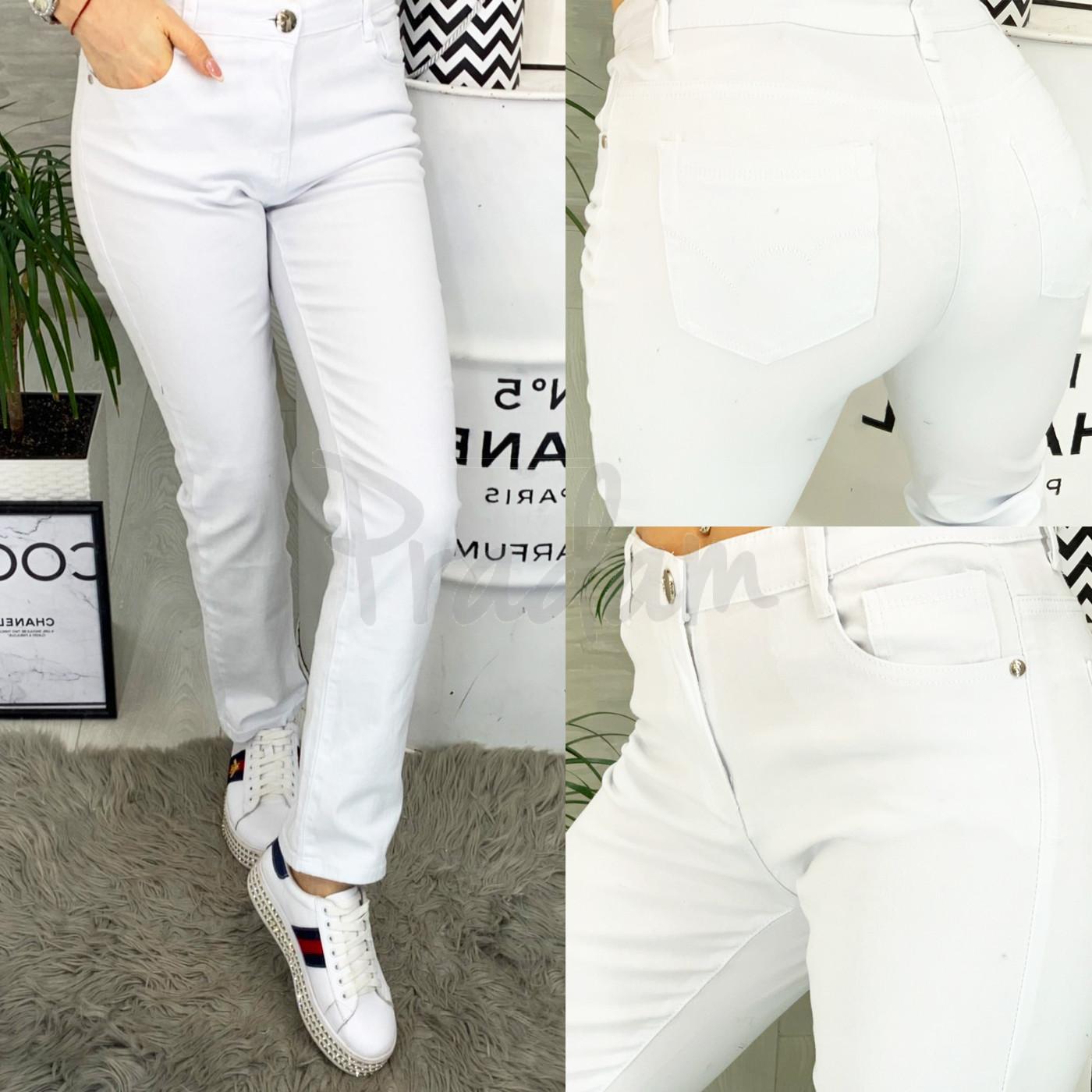 9761 Sunbird джинсы женские батальные белые стрейчевые (30-38, 6/12 ед.)