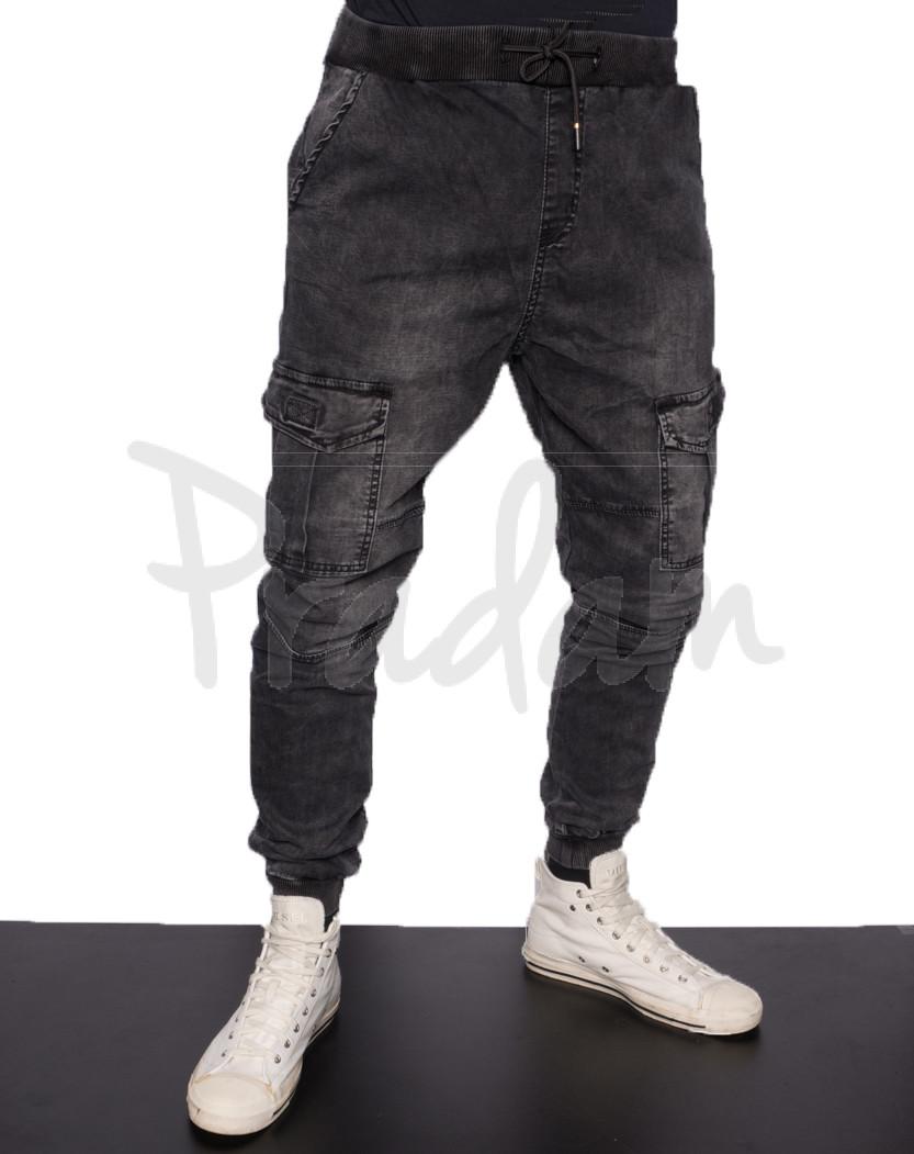 2591 Viman джинсы мужские на резинке весенние стрейчевые (30-38, 10 ед.)