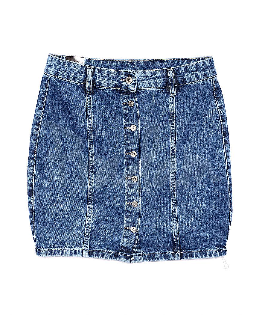 0054 синий Ondi юбка джинсовая котоновая (36-42, евро, 5 ед.)