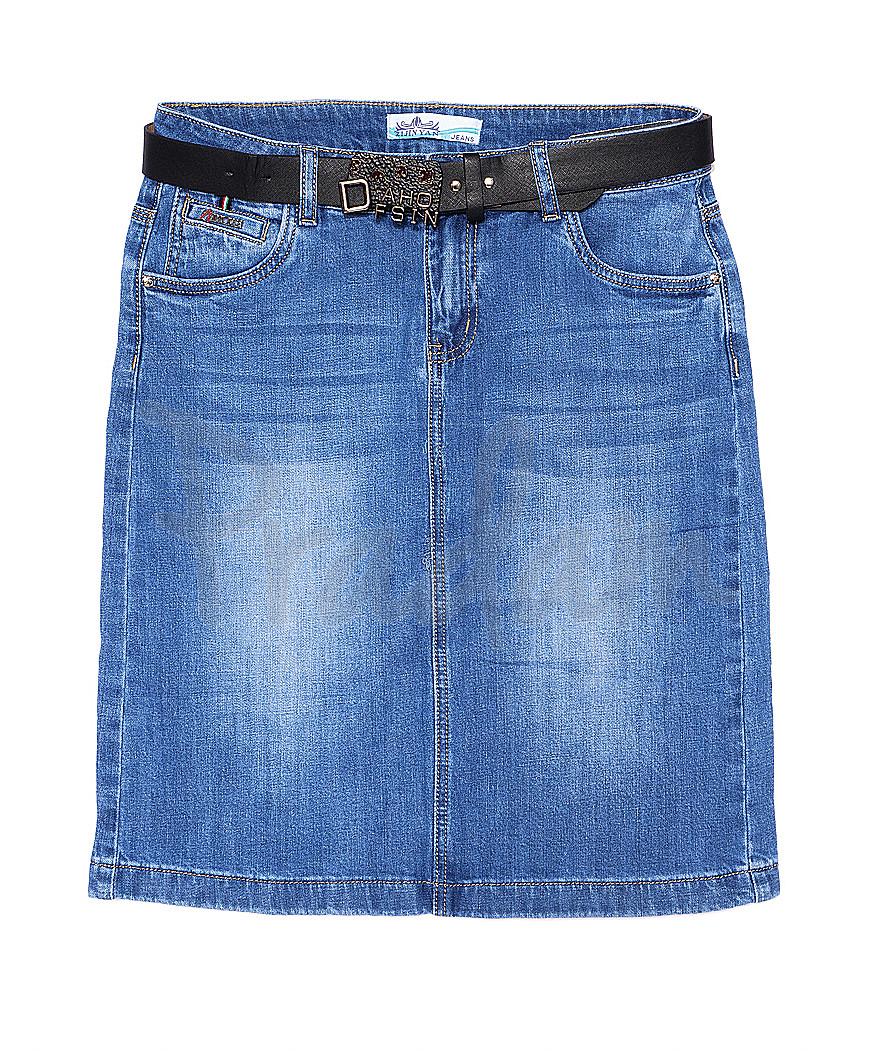 5821 Zijinyan юбка джинсовая батальная летняя стрейч-котон (30-36, 6 ед.)