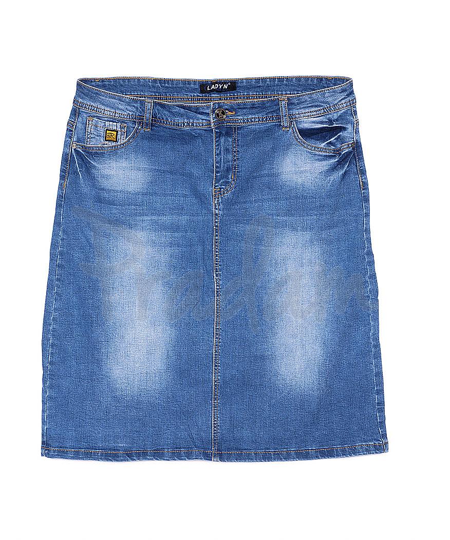 1306 Lady N юбка джинсовая батальная весенняя стрейчевая (31-38, 6 ед.)