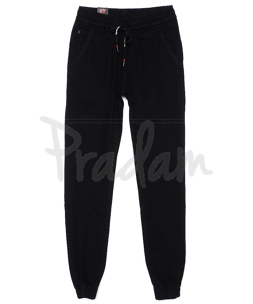 120203-X LS брюки мужские молодежные на резинке летние стрейч-котон (27-34, 8 ед.)