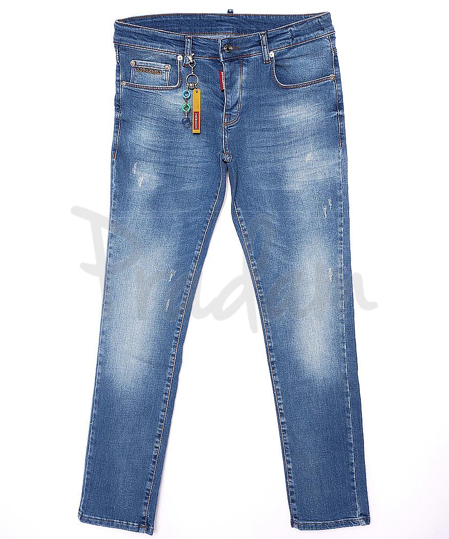 0013-21-004 Dsquared джинсы мужские батальные с царапками летние стрейчевые (32-38, 7 ед.)
