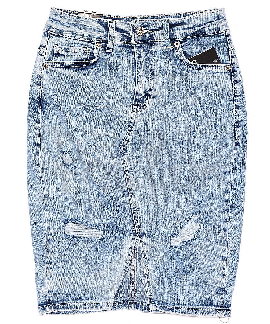 0061-3 (E61 (3)) Ondi юбка джинсовая с рванкой стрейчевая (36-42, евро, 5 ед.)