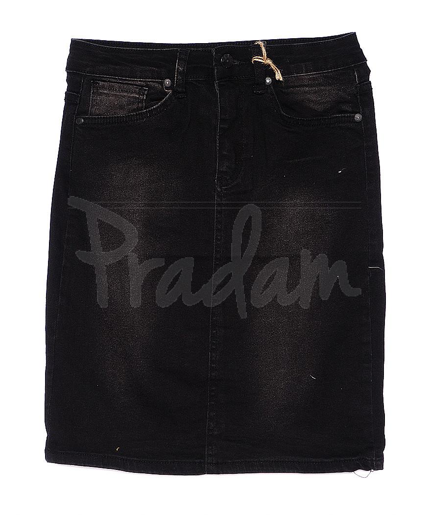 0980 X юбка джинсовая черно-серая стрейчевая (34-44, евро, 6 ед.)