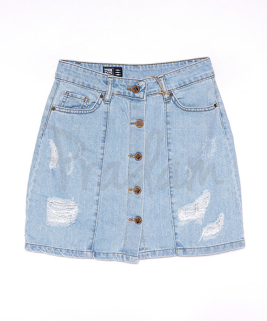 0186 RP юбка джинсовая на пуговицах котоновая (26-32, 7 ед.)