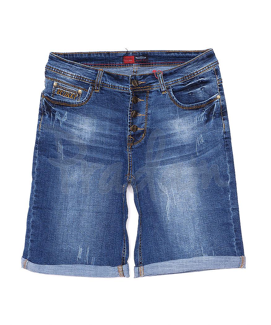 A 0158-15 Relucky шорты джинсовые женские батальные с царапками стрейчевые (31-38, 6 ед)