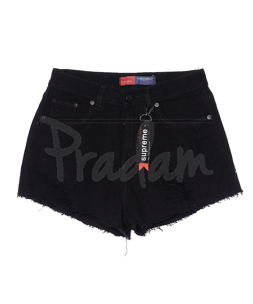 A 0033-15 ШОРТЫ Relucky шорты джинсовые женские с рванкой котоновые (25-30, 6 ед)