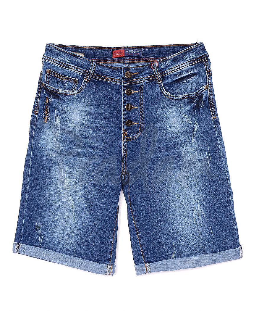 A 0157-15 Relucky шорты джинсовые женские батальные с царапками стрейчевые (31-38, 6 ед)