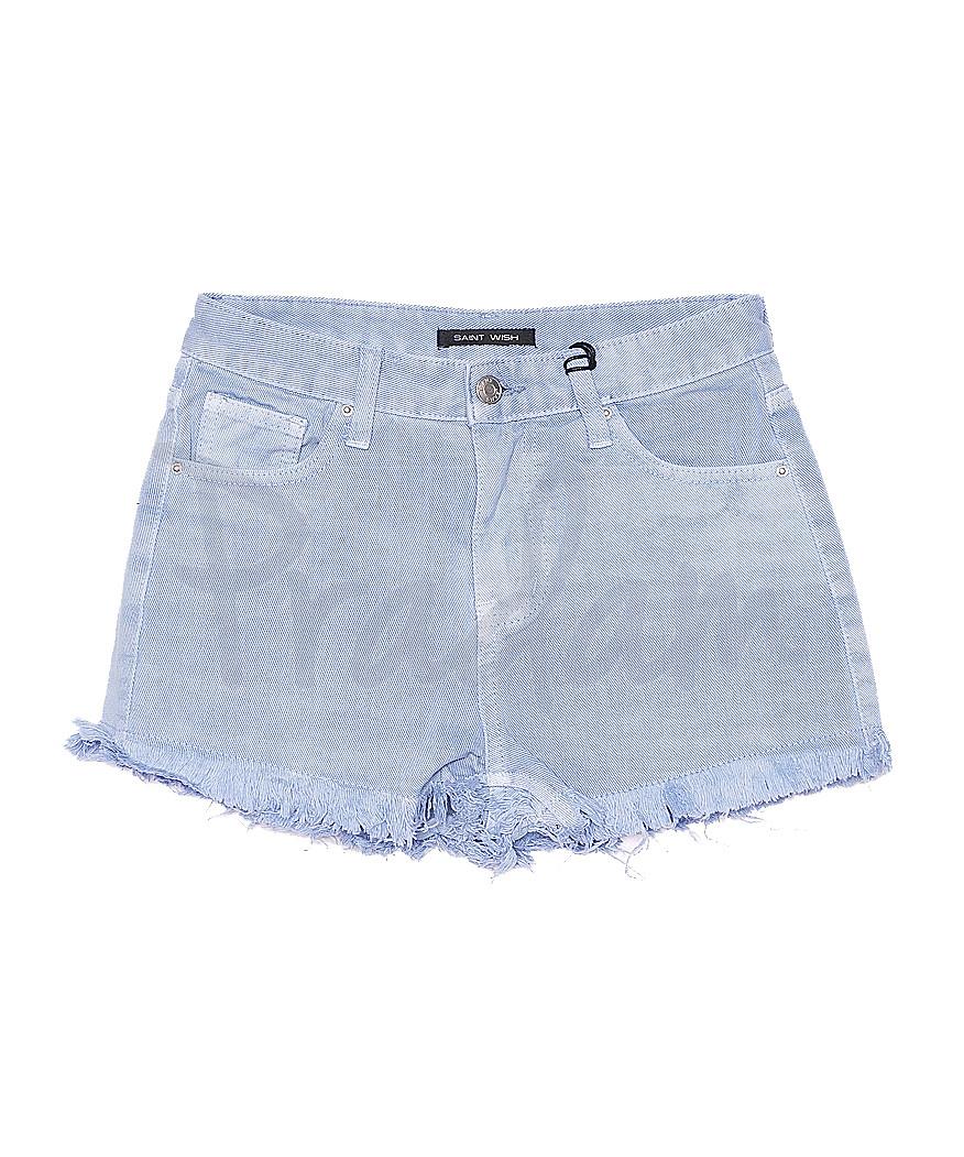 0161-6 Saint Wish шорты джинсовые женские голубые котоновые (25-30, 6 ед.)