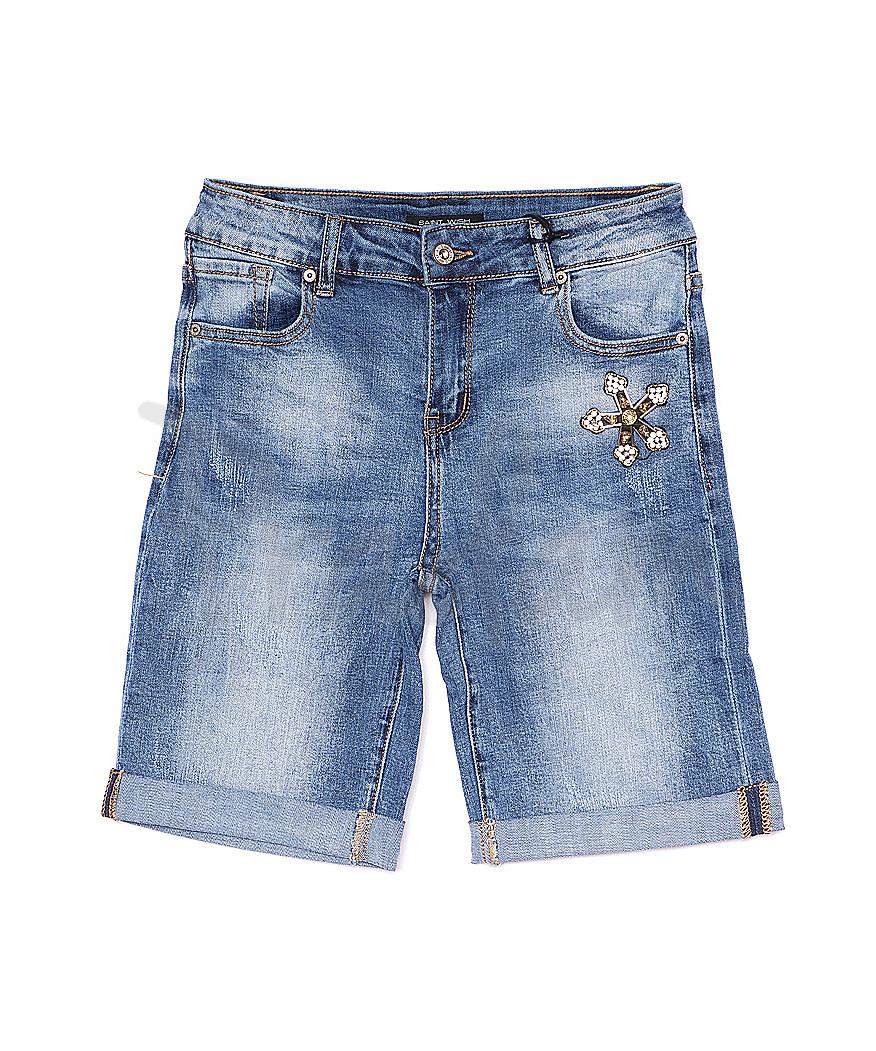 0127 Saint Wish шорты джинсовые женские с декоративной отделкой стрейчевые (25-30, 6 ед.)