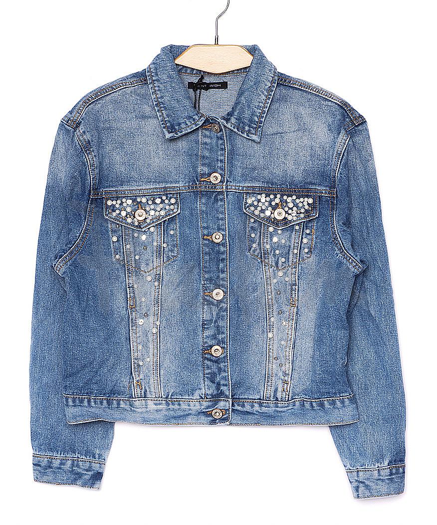 0150 Saint Wish куртка джинсовая женская с декоративной отделкой летняя котоновая (S-L, 3 ед.)