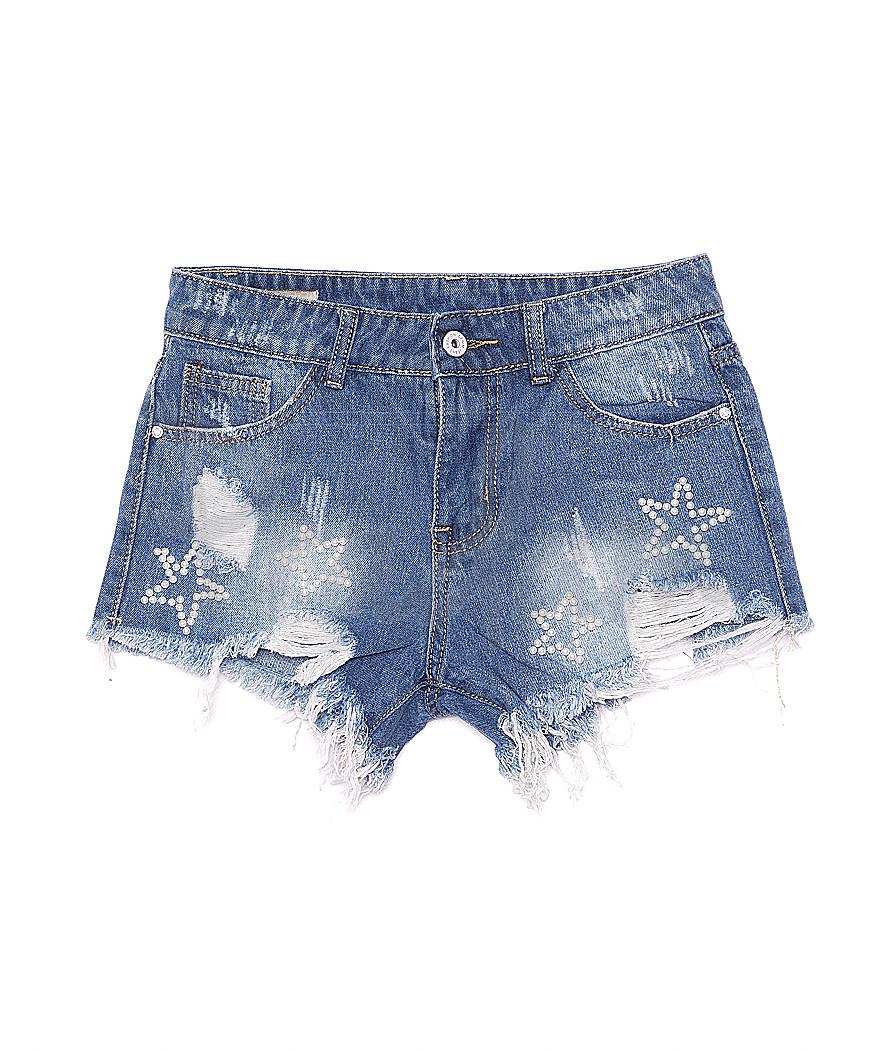 7018 New jeans шорты джинсовые женские с рванкой котоновые (25-30, 6 ед.)