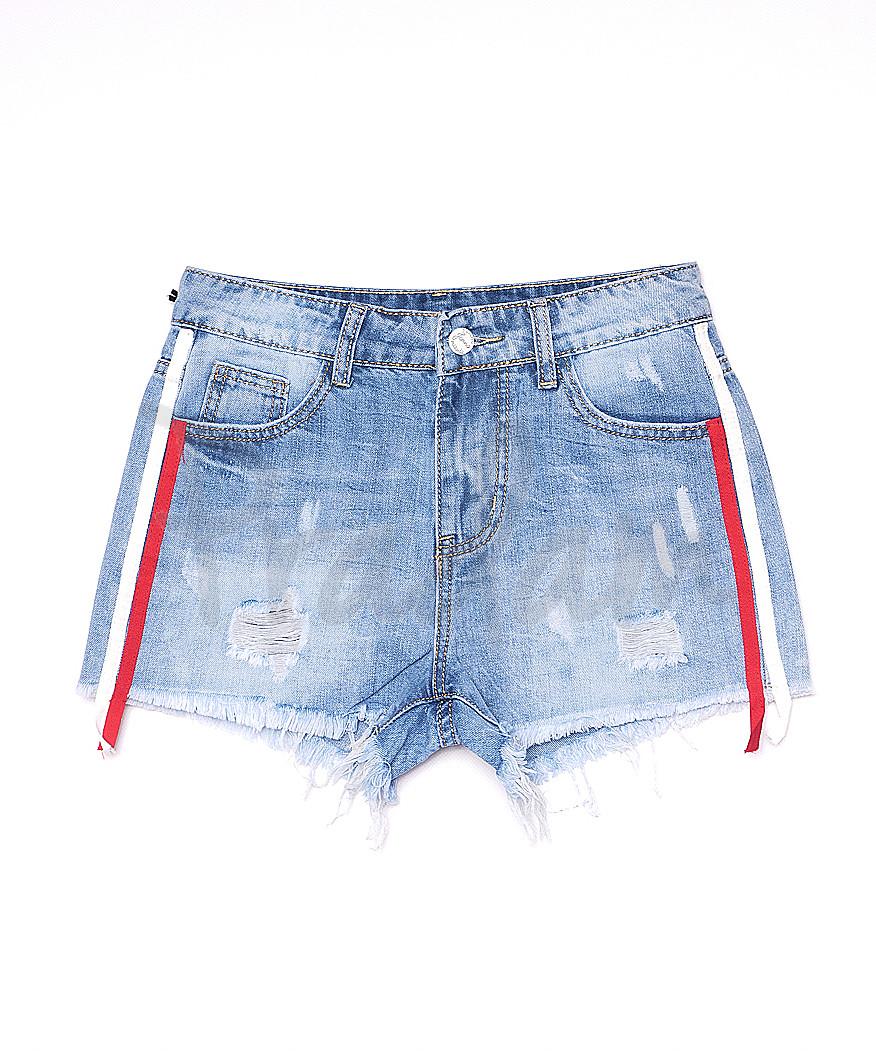 7052 New jeans шорты джинсовые женские с рванкой котоновые (25-30, 6 ед.)