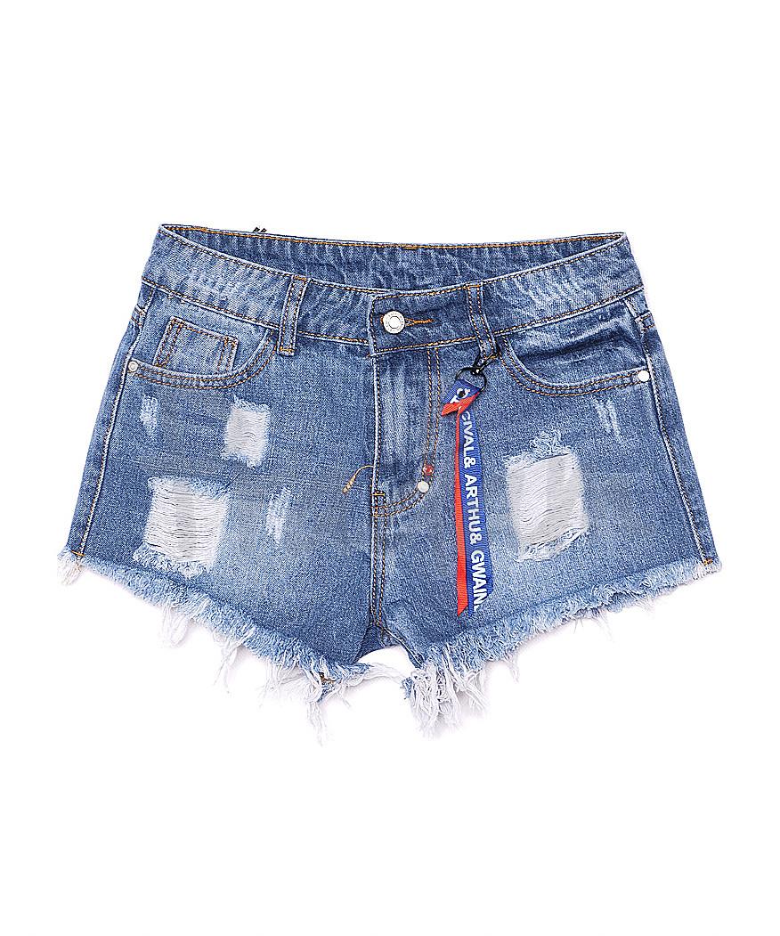 7070 New jeans шорты джинсовые женские с рванкой котоновые (25-30, 6 ед.)