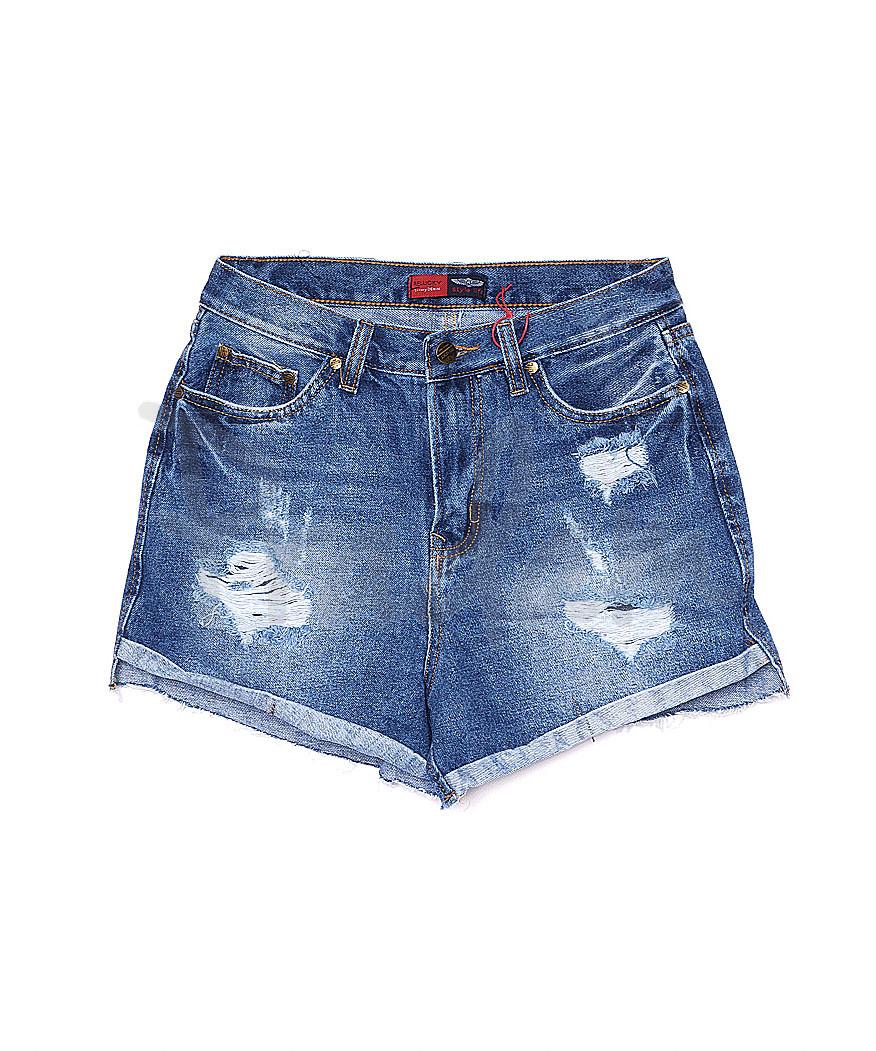 A 0052-15 Relucky шорты джинсовые женские с рванкой котоновые (25-30, 6 ед.)
